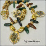 Ceramic Leaf Necklace by Bay Moon Design
