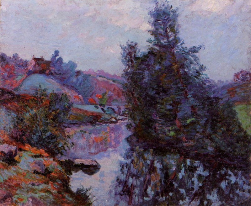 oil painting  Crozant, The Bouchardon Mill By: Armand Guillaumin