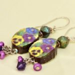 Long Pansy Earrings by BayMoonDesign