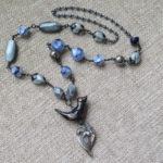 February Art Bead Scene Studio Challenge (entry #2) – Love Travels Necklace by McEnroeMoments