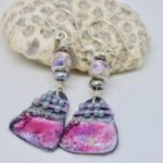 Pink and lavender earrings