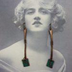 Wasser Glass Paddle Earrings