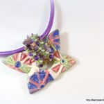 Statement Butterfly Necklace by RozantiQJewelry
