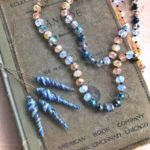 Knotted Necklace & Artisan Headpins Inspired by Blondine & The Tortoise by Dry Gulch Beads & Jewelry
