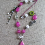 Art Journey #3 – ABS Challenge (entry #2) – Fuchsia Buzz Necklace by Michelle McEnroe