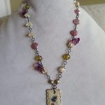 Art Journey 2019 #3 – ABS Challenge (entry #4) – Romantic Travel Necklace by Michelle McEnroe