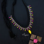 Copper Choker cord necklace