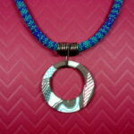 Abstract Winter Pendant Necklace