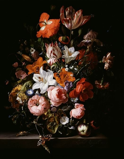 This image has an empty alt attribute; its file name is 7_Ruysch_FlowersinaGlassVase.jpg