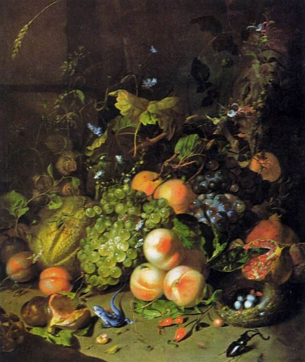 This image has an empty alt attribute; its file name is 7_Ruysch_FruitNestInsects_1717.jpg